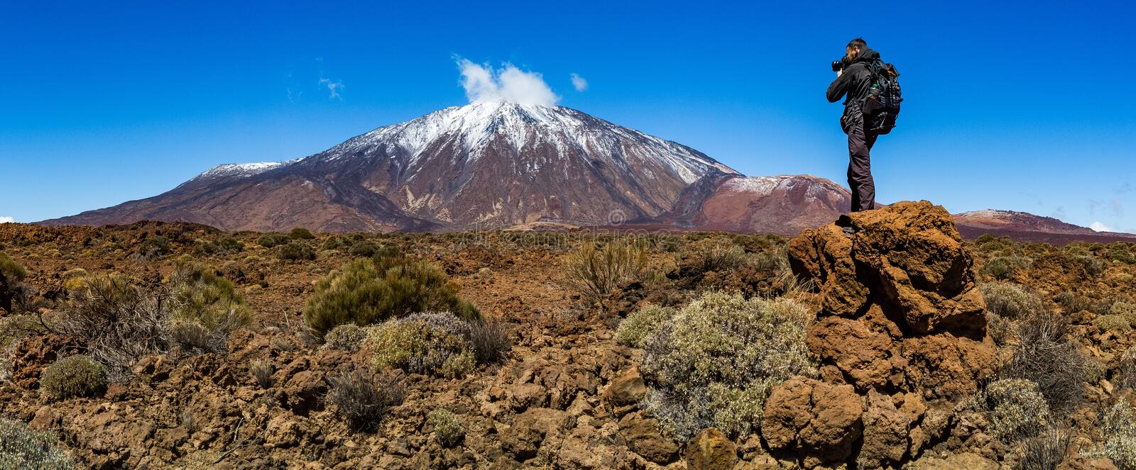 Teide National Park, Tenerife, Canary islands, volcano. Teide National Park is the biggest park on the Canary Islands stock photography