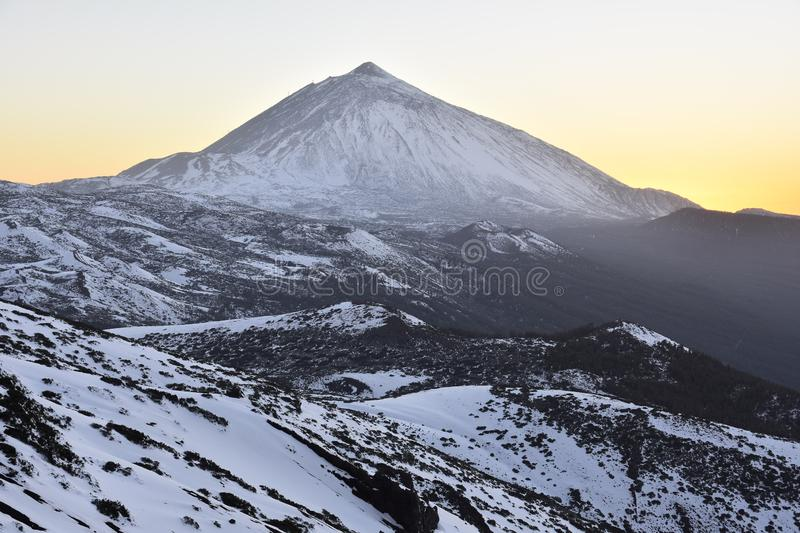 Teide National Park in winter Tenerife Canary Islands royalty free stock photography