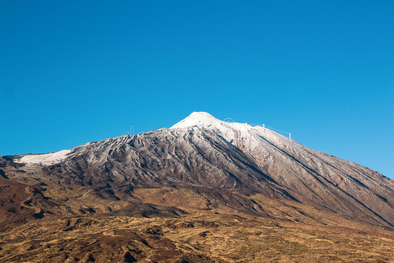 Teide National Park in winter time in Tenerife, Canary Islands stock photography