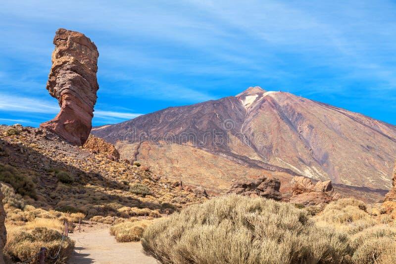 Teide nationalpark kanariefågelöar tenerife royaltyfri fotografi