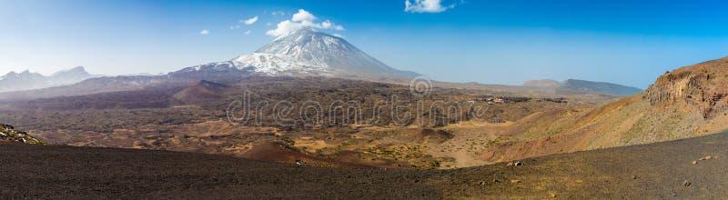 Teide nationalparkpanorama arkivfoton
