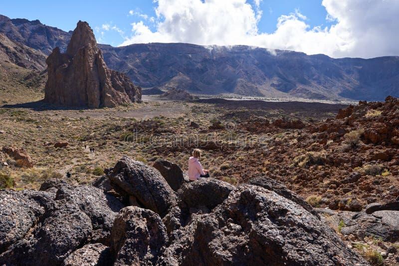 Teide park narodowy Roques De Garcia w Tenerife przy wyspami kanaryjska zdjęcie stock