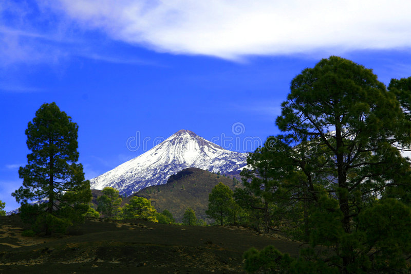 Teide Tenerife. A view of mount Teide in Tenerife stock image