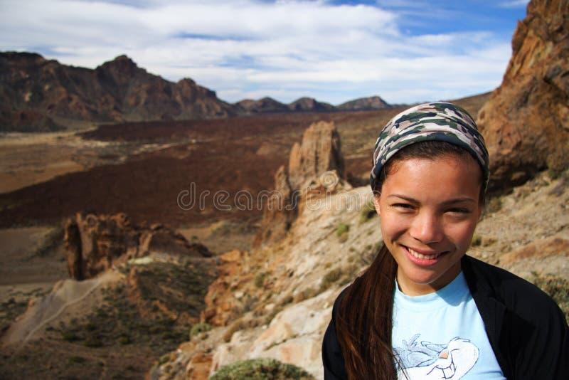 teide Tenerife kobieta fotografia stock