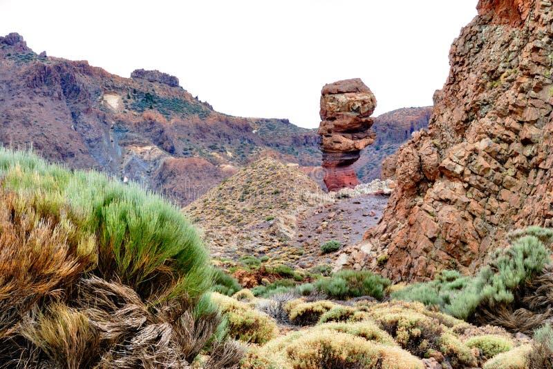 teide tenerife roques национального парка cinchardo стоковое фото
