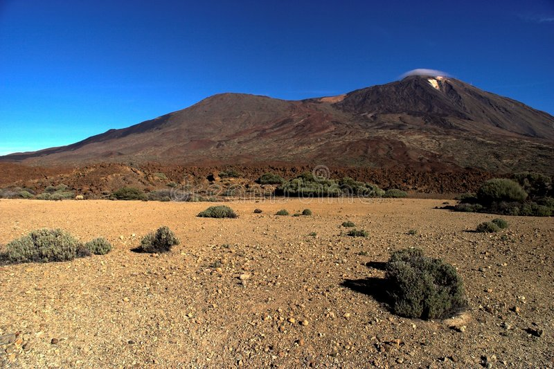 Teide Volcano. The Teide Volcano in Tenerife, seen from the National Park of Las Cañadas royalty free stock photo