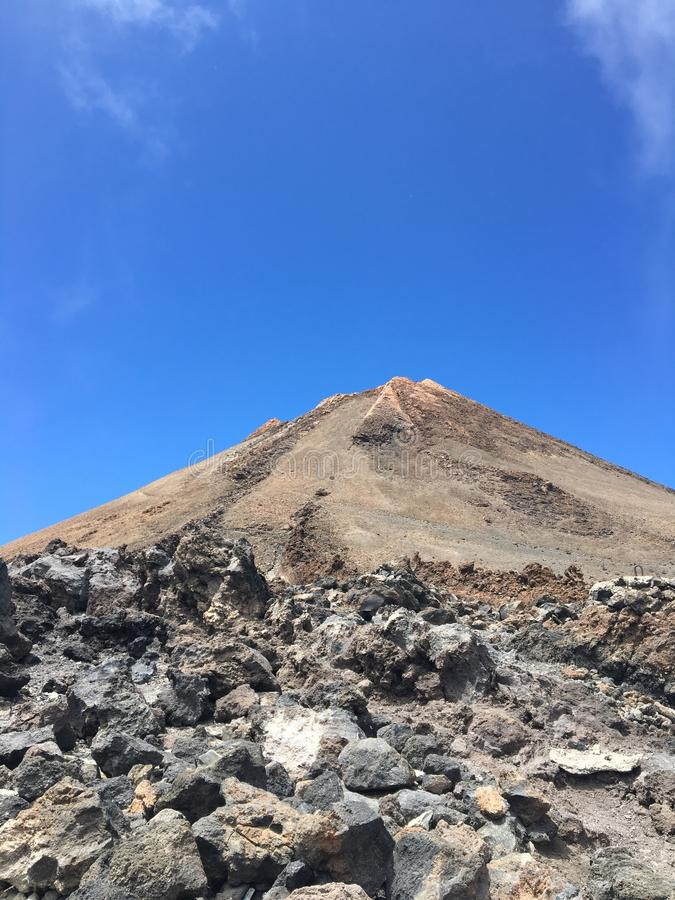 Teide volcano. In Tenerife, Canary islands stock photos
