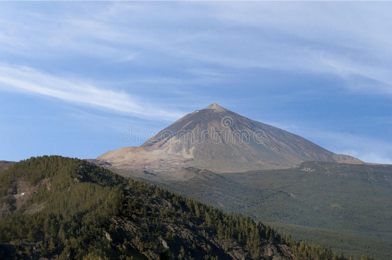 Teide volcano on Tenerife in the Canary Islands stock photography