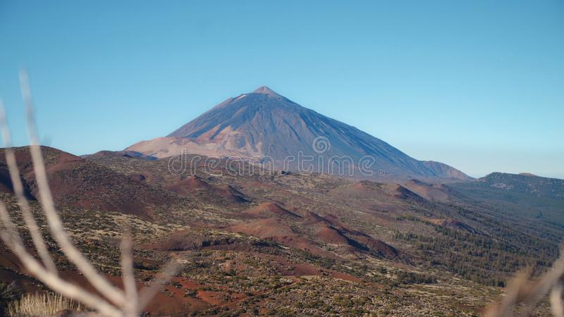 Volcanic landscape at the foot of the volcano Teide stock images
