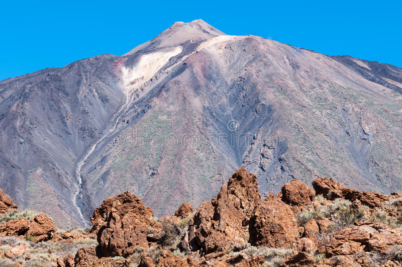 Teide. Volcano in tenerife islands, canary islands royalty free stock image