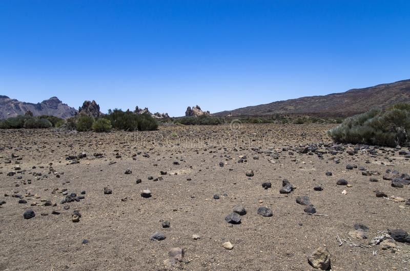 Teide Volcano Valley Landscape royalty free stock images