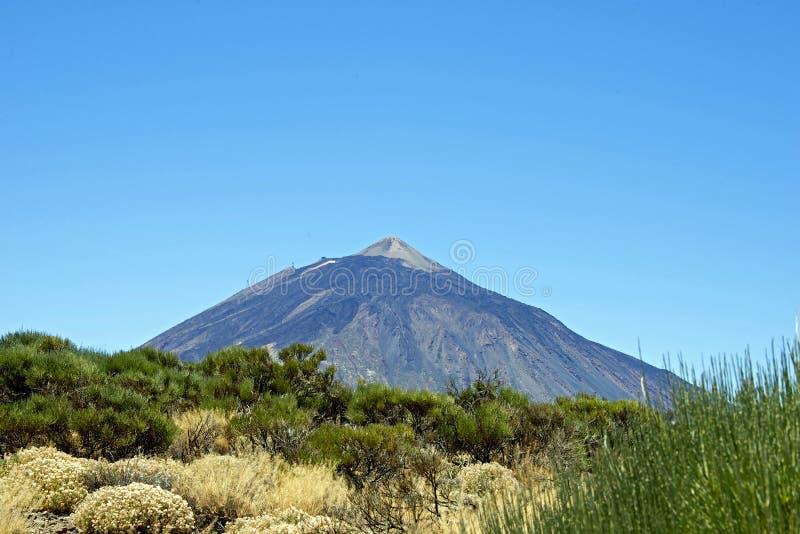 Teide-Vulkan von weit lizenzfreies stockfoto