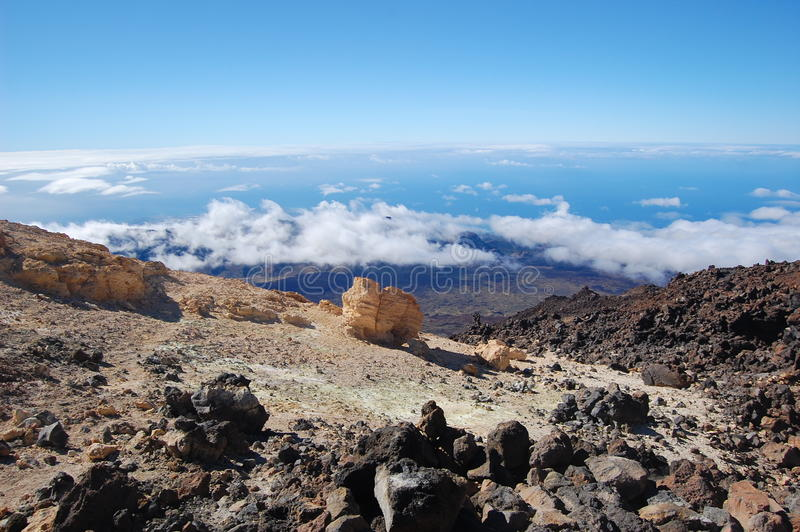 Teide Vulkanansicht stockfoto