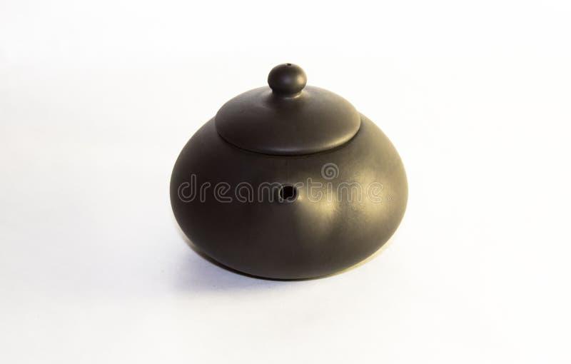 Teiera ceramica di Chakhu, cha HU immagine stock
