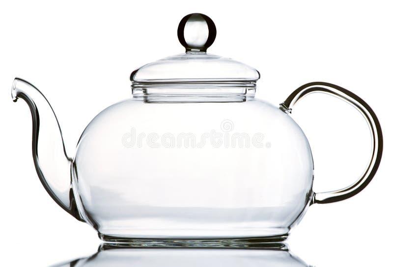 Teiera di vetro vuota immagine stock libera da diritti
