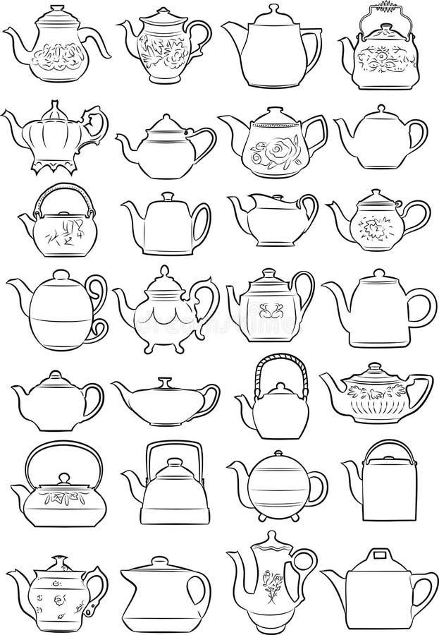 teiere royalty illustrazione gratis