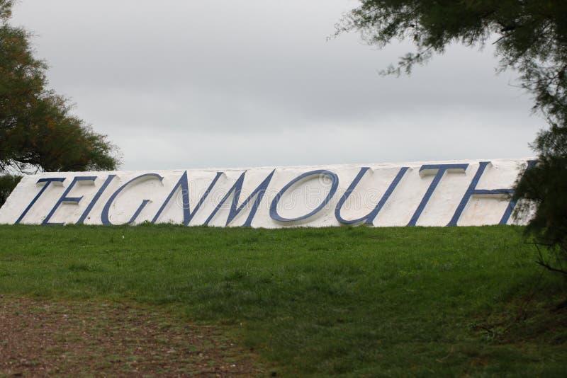 Teignmouth tecken royaltyfria bilder