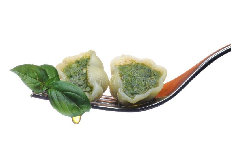Teigwaren-Al Pesto stockbild