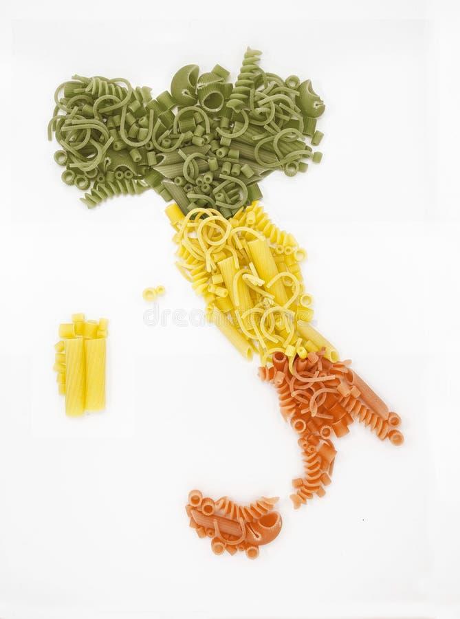 Teigwaren hergestellt in Italien mit Gegend lizenzfreies stockfoto