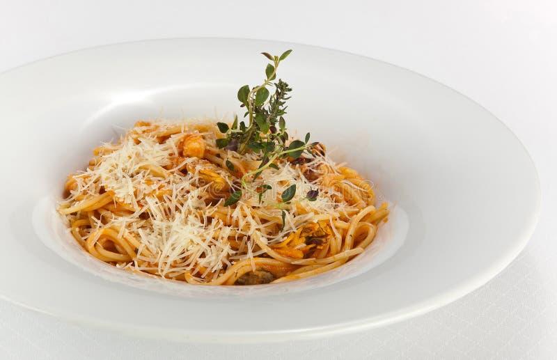 Teigwaren mit Clam Dinner Dish lizenzfreies stockfoto