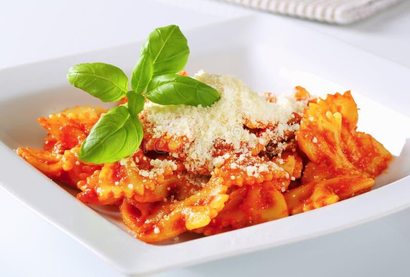 Teigwarenal Pomodoro stockfoto