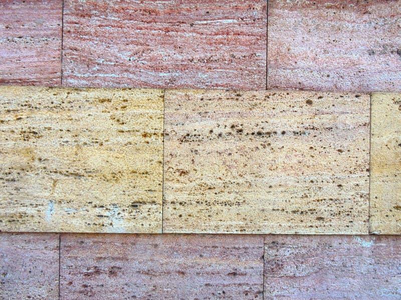Teil bunte Beschaffenheit gemacht vom Sedimentgestein stockfoto