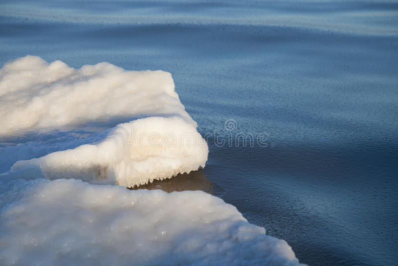 Teil der Eisscholle stockbild
