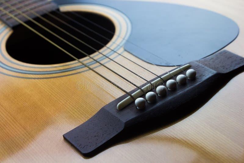 Teil der Gitarre stockfoto