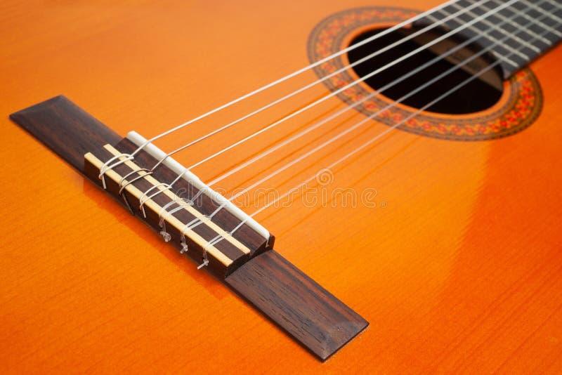 Teil der klassischen Gitarre lizenzfreie stockbilder