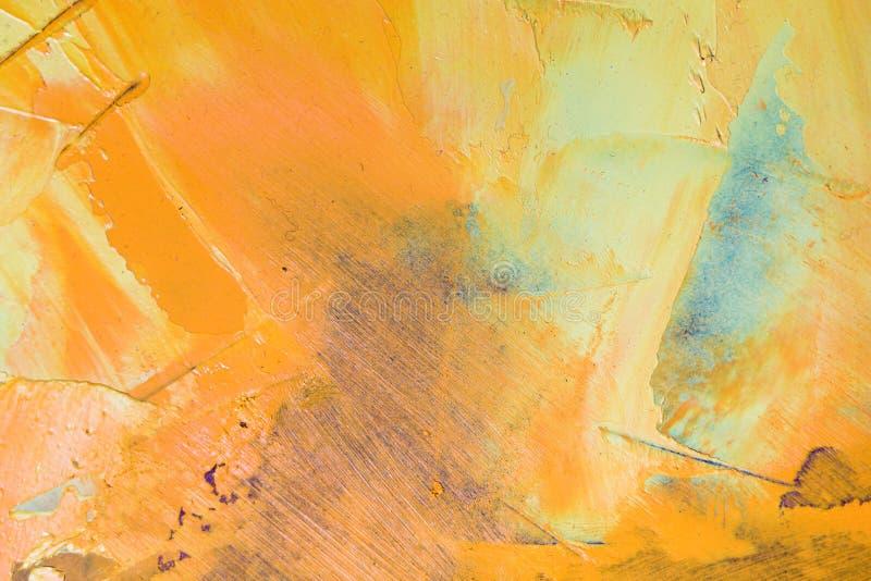 Teil des bunten OberflächenÖlgemäldes Makro lizenzfreie abbildung