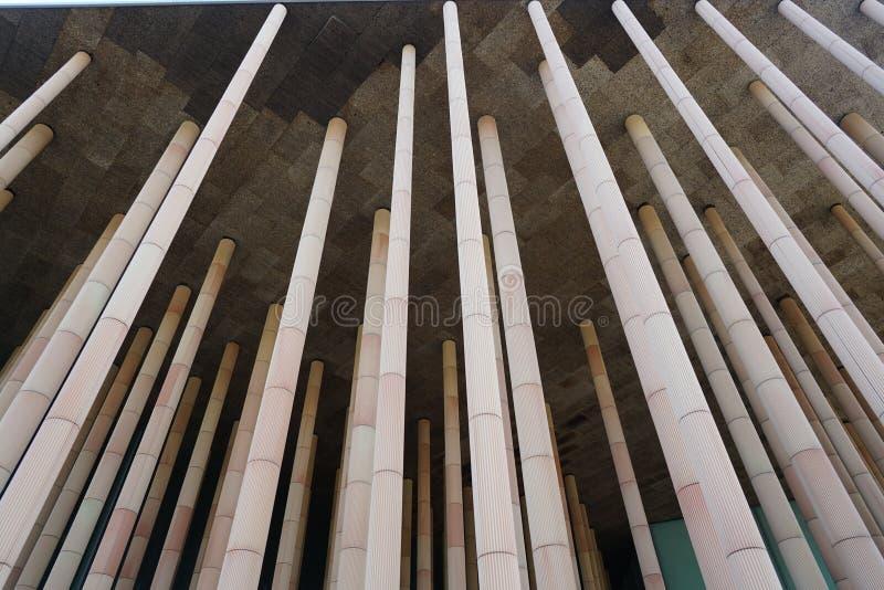 Teil des Gebäudes mit Spalten lizenzfreies stockfoto