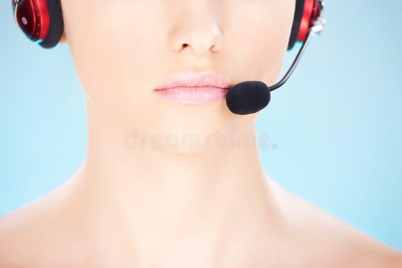 Teil des Gesichtes einer Frau lizenzfreies stockfoto