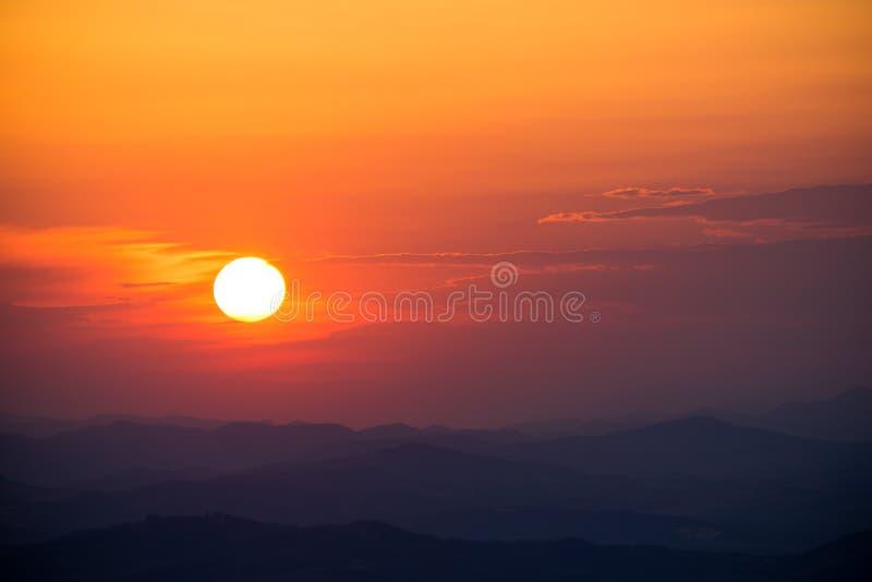 Teil einer Sonnenuntergang-Reihe lizenzfreies stockbild