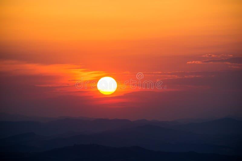 Teil einer Sonnenuntergang-Reihe stockbild