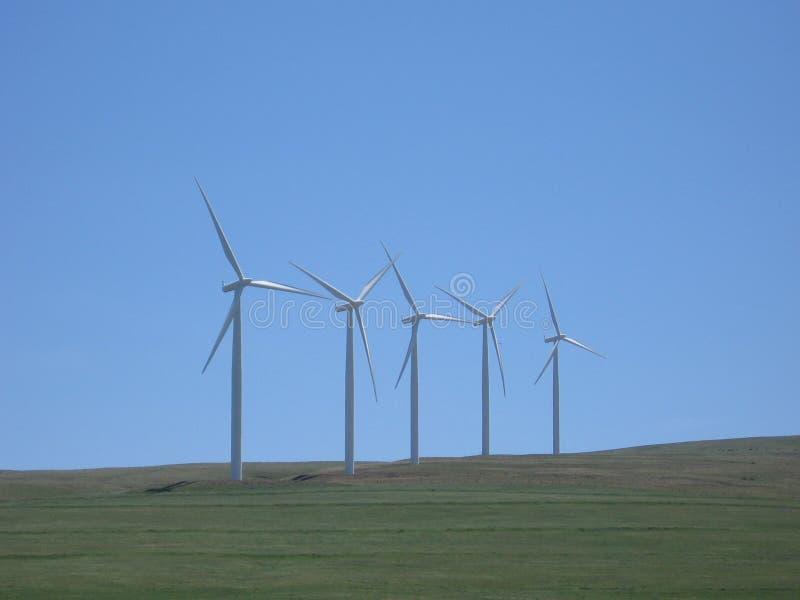 Teil eines Windparks lizenzfreie stockbilder