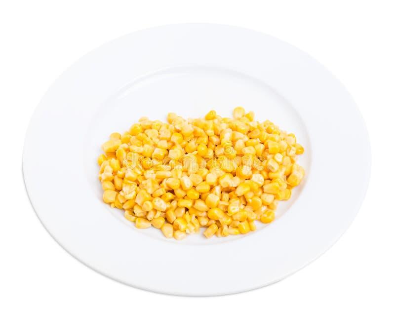 Teil köstlicher in Büchsen konservierter Mais stockfoto