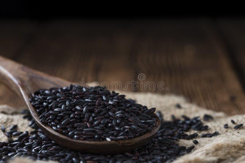 Teil schwarzer Reis stockfoto