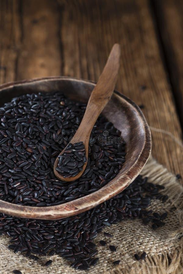 Teil schwarzer Reis lizenzfreies stockfoto