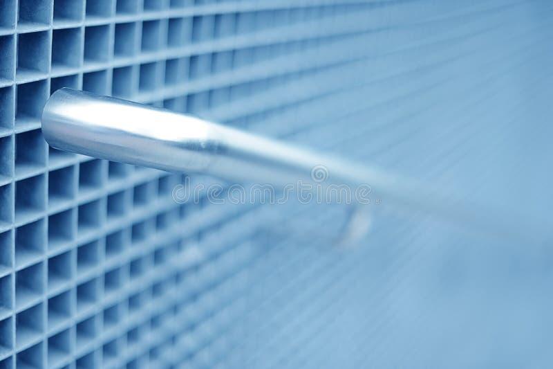 Teil Stahlgeländer stockfoto