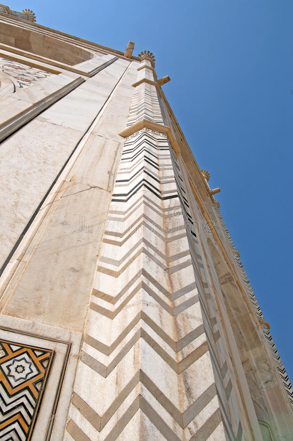 Teil Taj Mahals, Agra, Indien lizenzfreie stockbilder