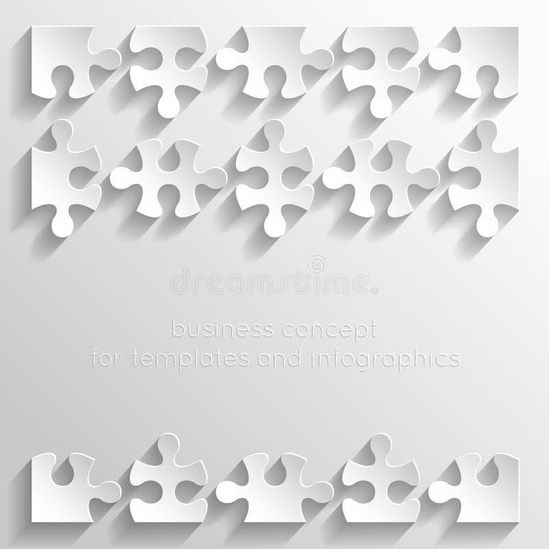 Teile Papierpuzzlespiele lizenzfreie abbildung