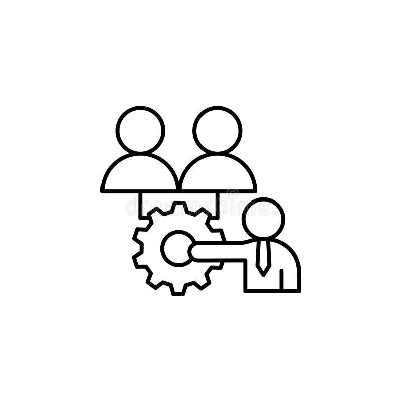 Teilen der Lernerfahrungsikone Element der Geschäftsmotivationslinie Ikone stock abbildung