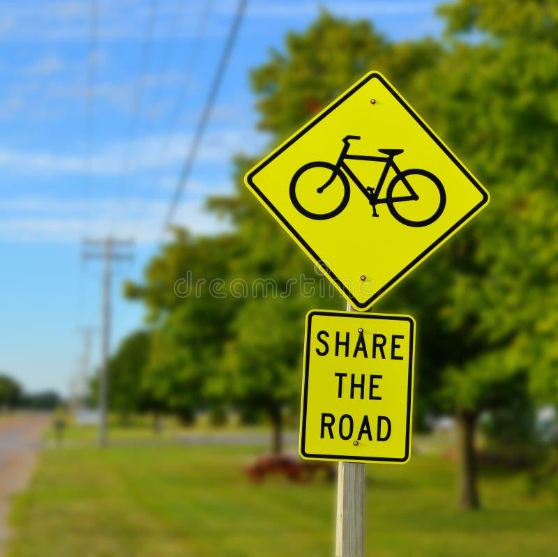 Teilen Sie das Verkehrsschild stockfoto