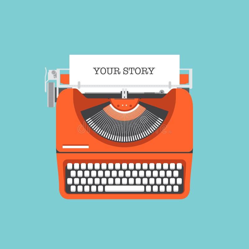Teilen Sie Ihre flache Illustration der Geschichte lizenzfreie abbildung