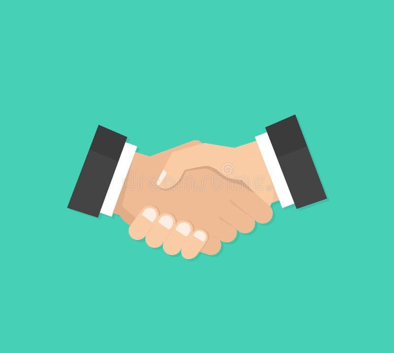 teilhaberschaft Rütteln Sie Hände, Vereinbarung, gutes Abkommen, Händedruckkonzepte Moderne flache Designgraphikelemente Vektor stock abbildung