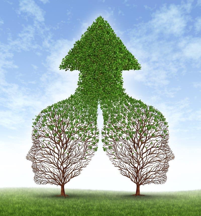 Teilhaberschaft zusammen wachsen stock abbildung