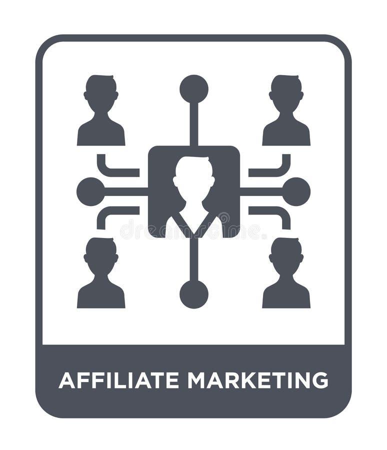 Teilnehmermarketing-Ikone in der modischen Entwurfsart Teilnehmermarketing-Ikone lokalisiert auf weißem Hintergrund Teilnehmermar stock abbildung