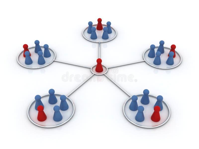 Teilnehmerprogramm. Netz. stock abbildung