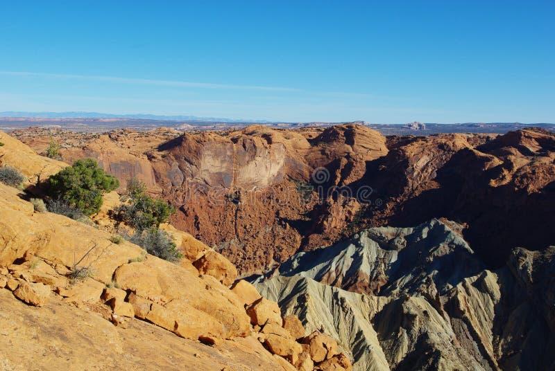 Teilweise Ansicht der Umwälzung-Haube, Utah stockbild