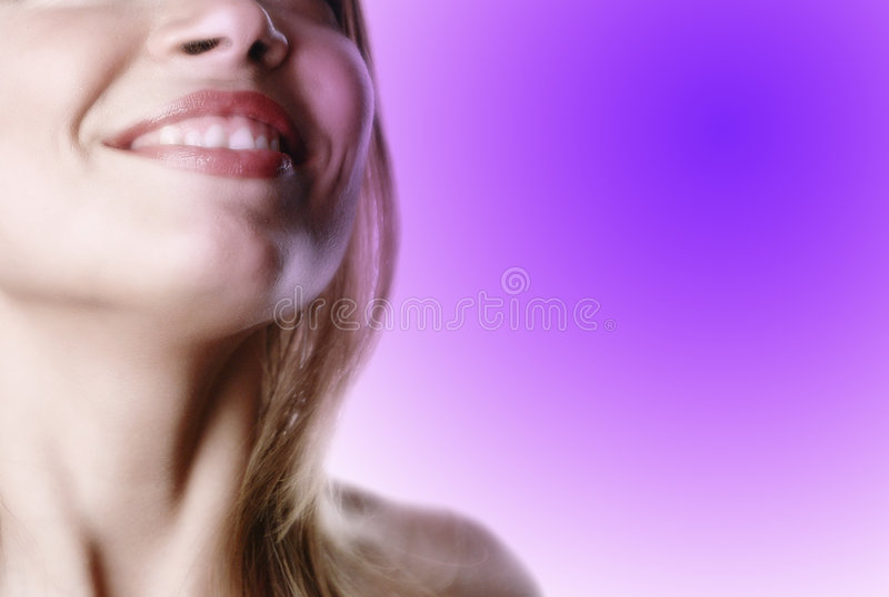 Teilweise Frau face-11 stockbild